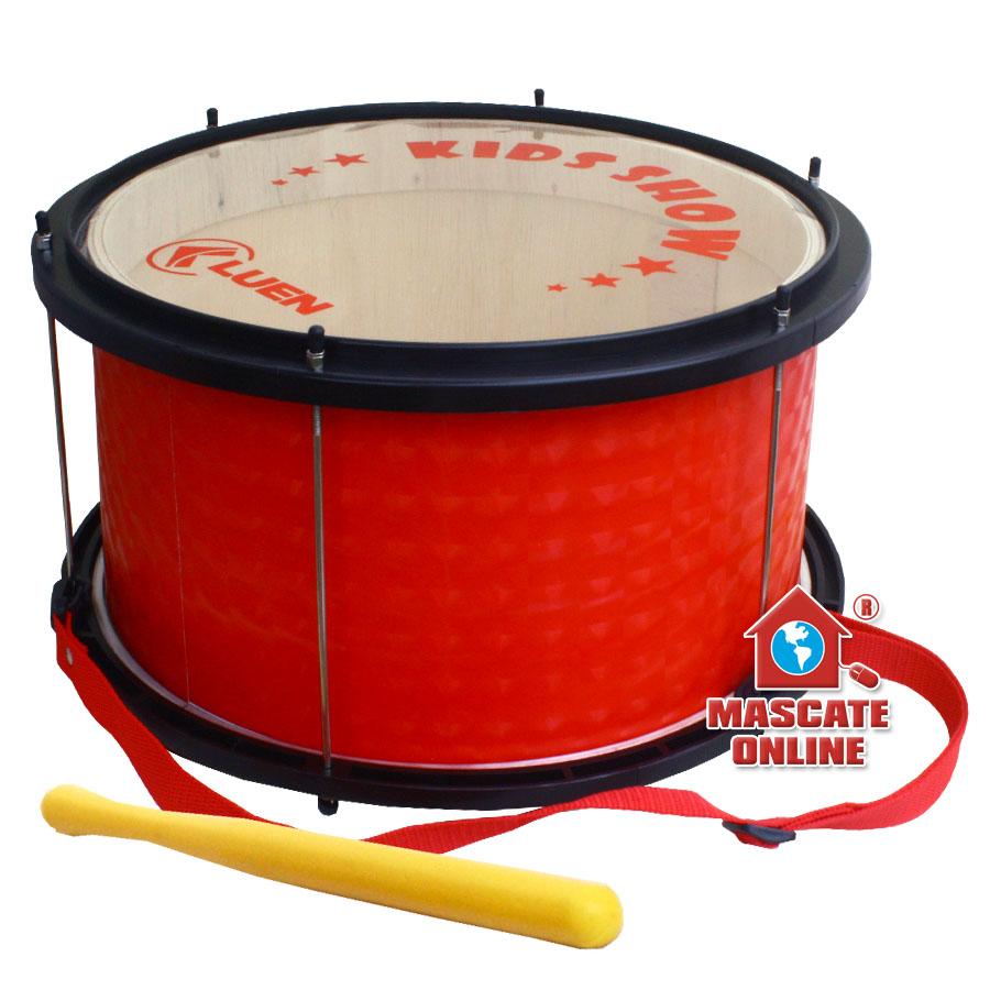 """Bombo Infantil Vermelho Madeira 14"""" 20cm Luen 29470VM"""