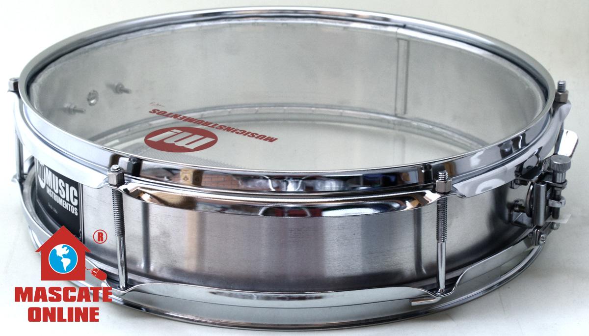 "Caixa de Repique 14""x8cm Alumínio Music 437BLS"