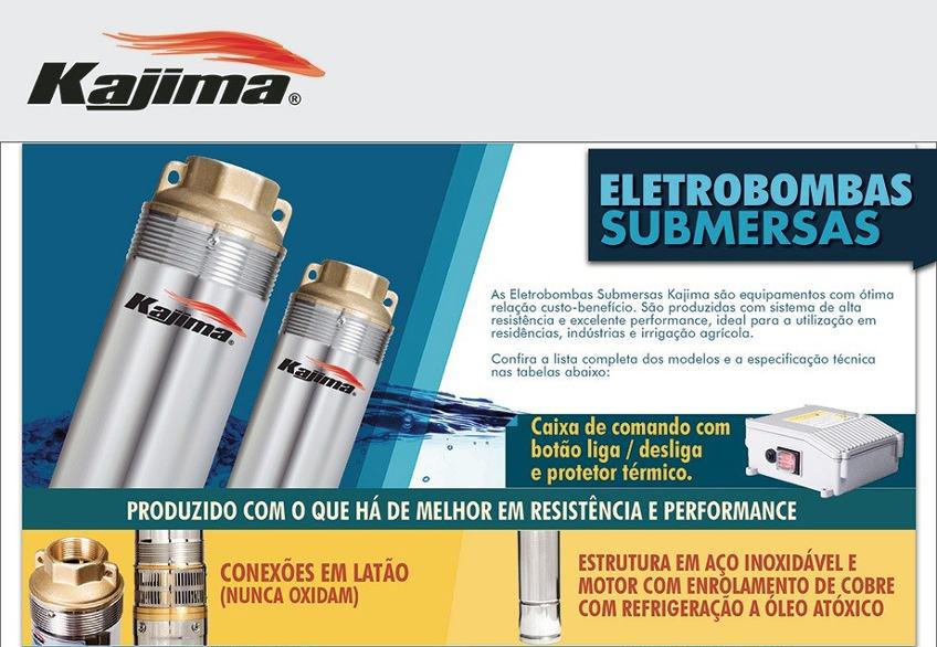 Eletrobomba Submersa 3'' 0,5 HP 220V Kajima SW-310050