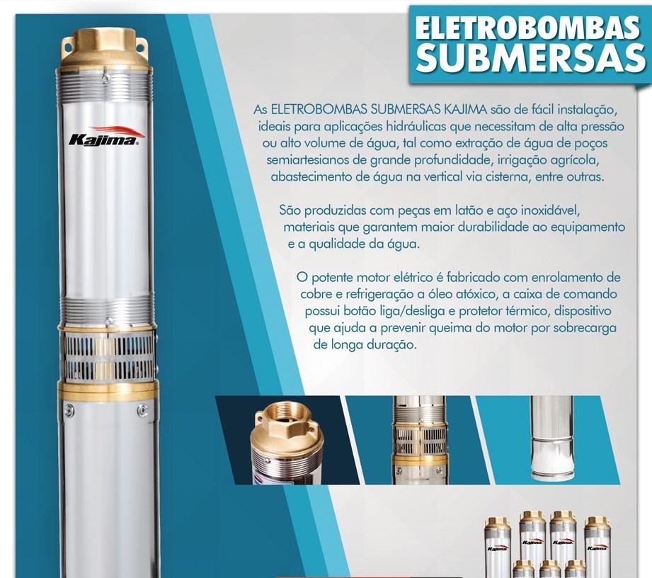 Eletrobomba Submersa 4'' 0,75HP 127V Kajima SW-405050