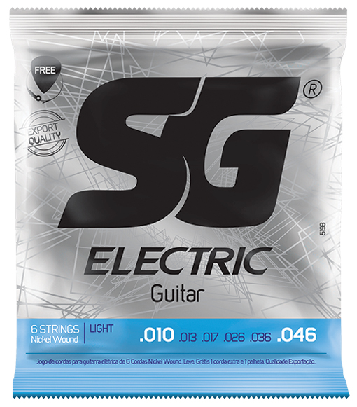 Encordoamento SG Níquel p/ guitarra - MI .010 .046