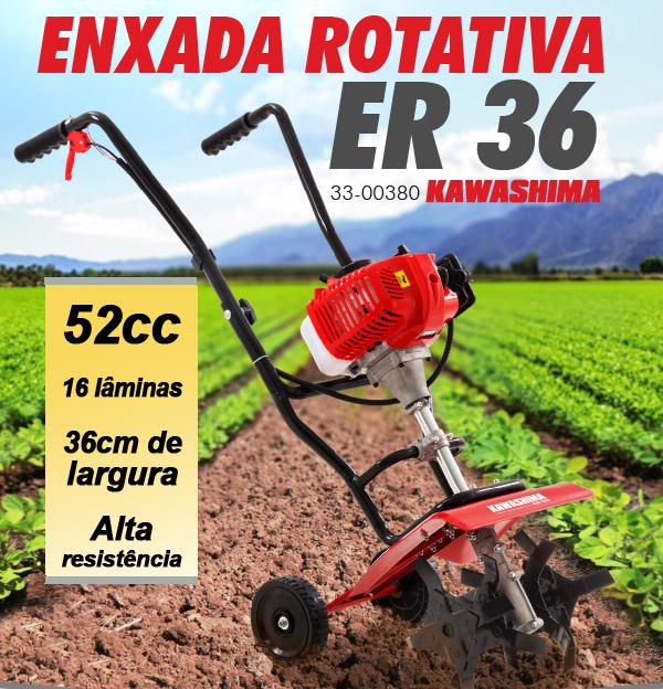 Enxada Rotativa 52cc Kawashima ER36