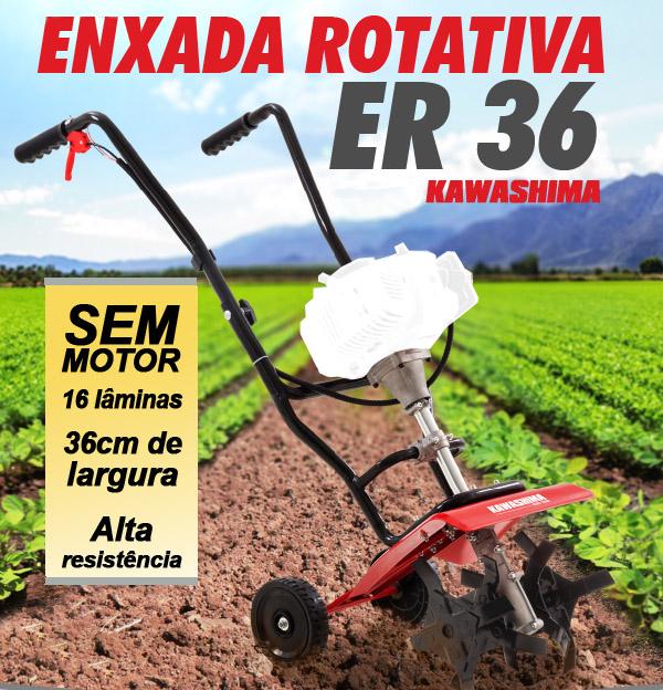 Enxada Rotativa Kawashima ER36 sem motor
