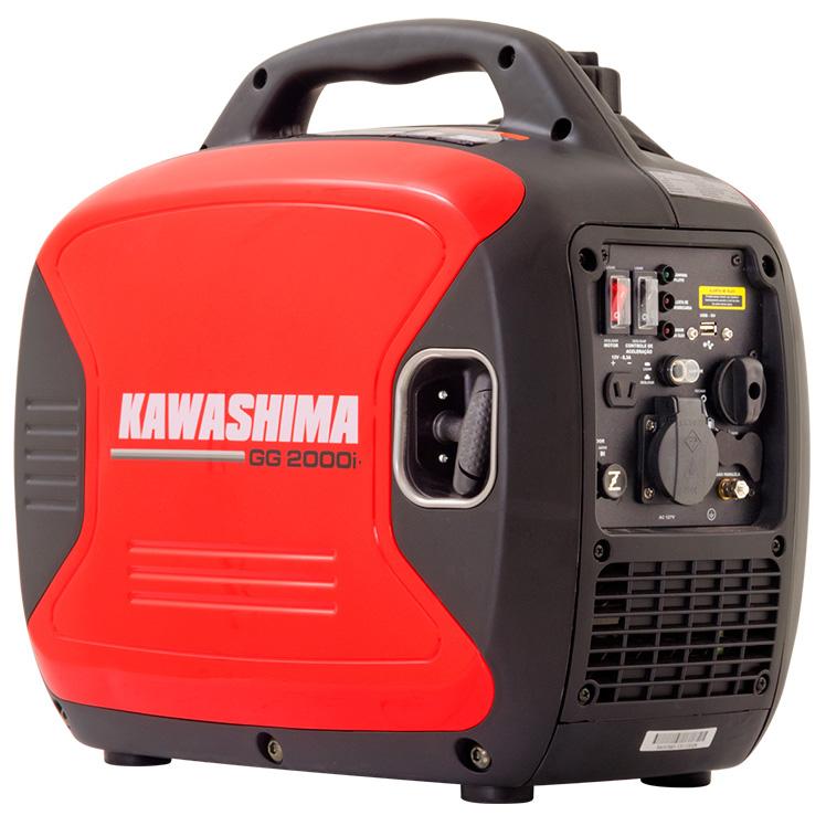 Gerador de Energia a Gasolina 2,3kW 220V Kawashima GG 2000i