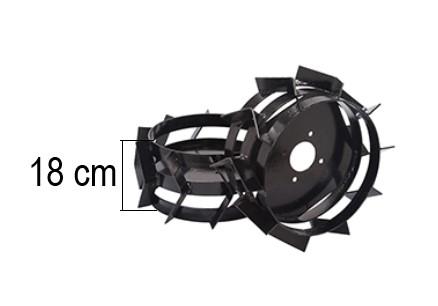 Jogo Rodas Ferro p/ Banhado p/ Microtrator MCG780 / MCD580