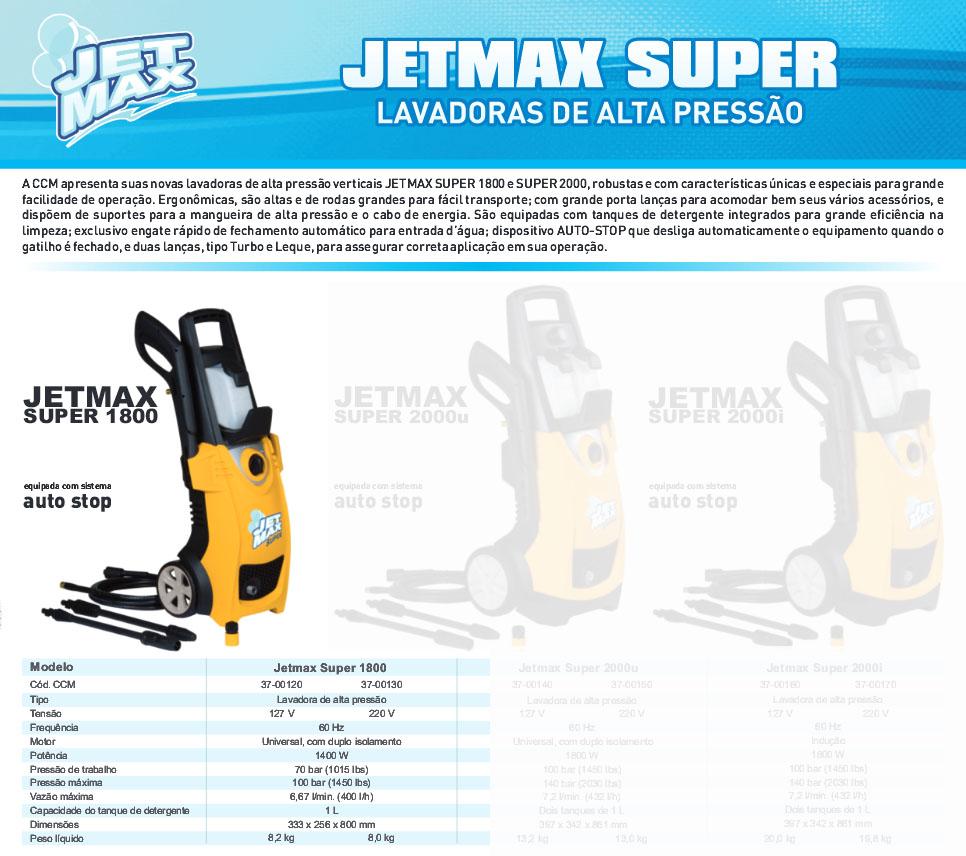 Lavadora Alta Pressão 127V 1450lb 1400W JetMax