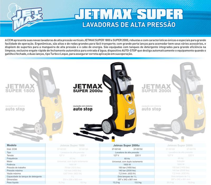 Lavadora Alta Pressão 220v 1800W Jet Max Super 2000u