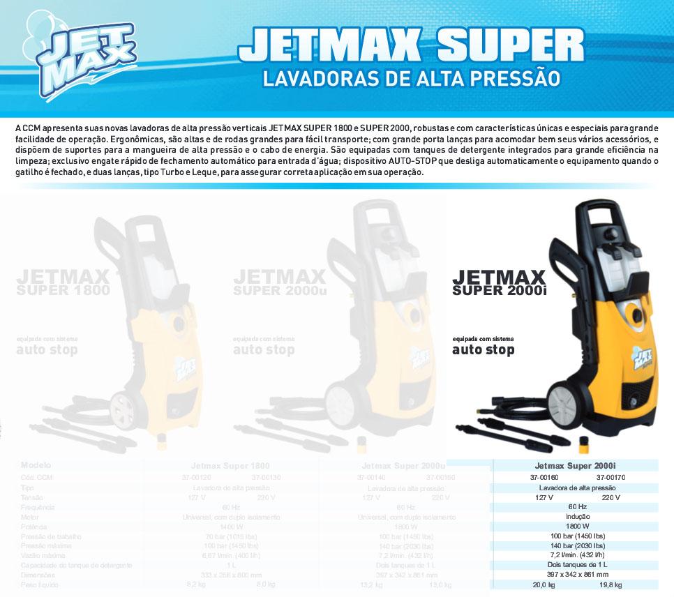 Lavadora de Alta Pressão 127v 1800W Jet Max Super 2000i