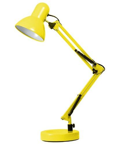Luminária Articulável com Base - Cor Amarela