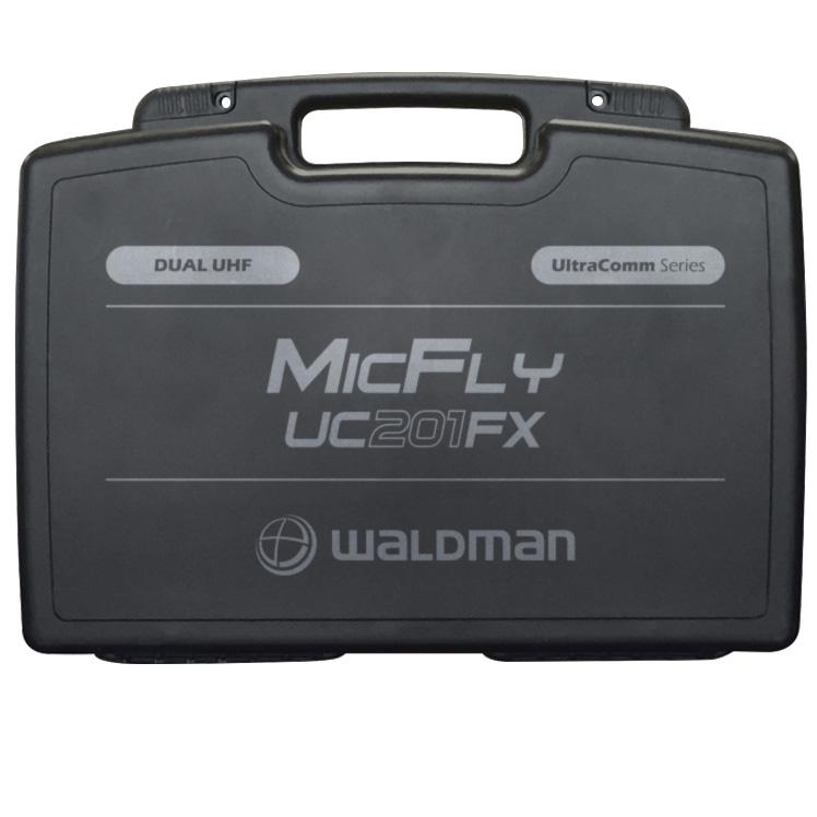 Microfone Duplo UHF Sem Fio c/ 1 Receptor Waldman