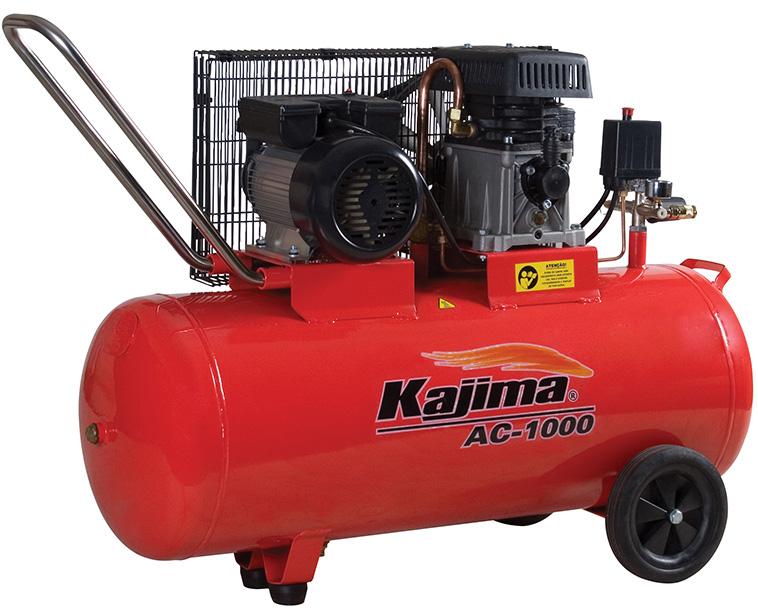 Motocompressor de ar 2,5 HP 100 Litros 220V Kajima AC 1000
