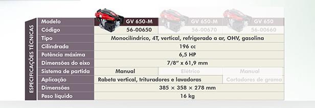 Motor Estacionário 6,5HP gasolina Kawashima GV650M