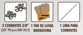 Motosserra de poda Kawashima KWS2612 25,4cc a gasolina