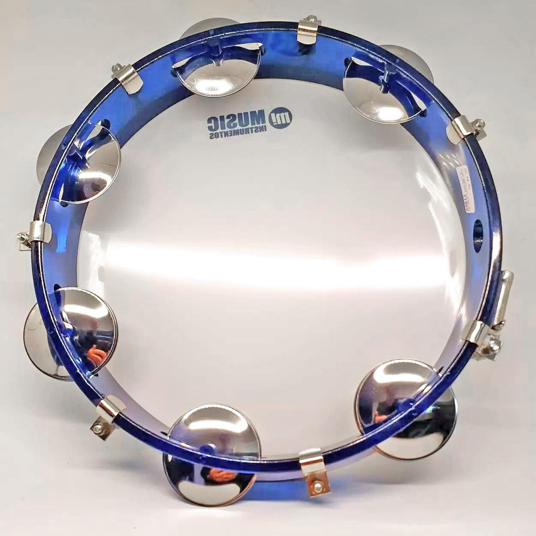 "Pandeiro 10"" acrílico azul - Music 982BL"