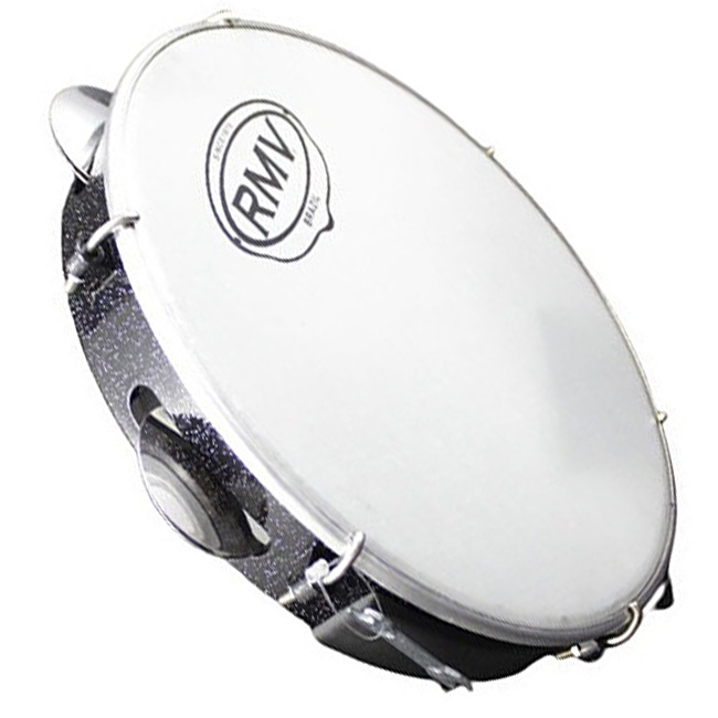 "Pandeiro 10"" Glitter Nylon Manopla Leve - RMV PPPA00010"