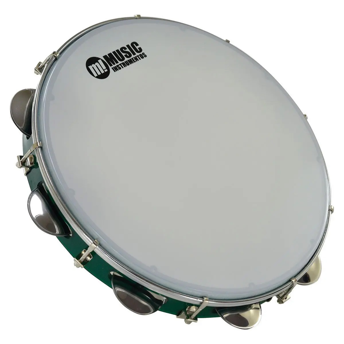 "Pandeiro 12"" acrílico verde - Music 983GR"