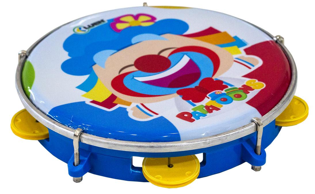 "Pandeiro Infantil 8"" Azul Patati Luen 40084PP/AZ"