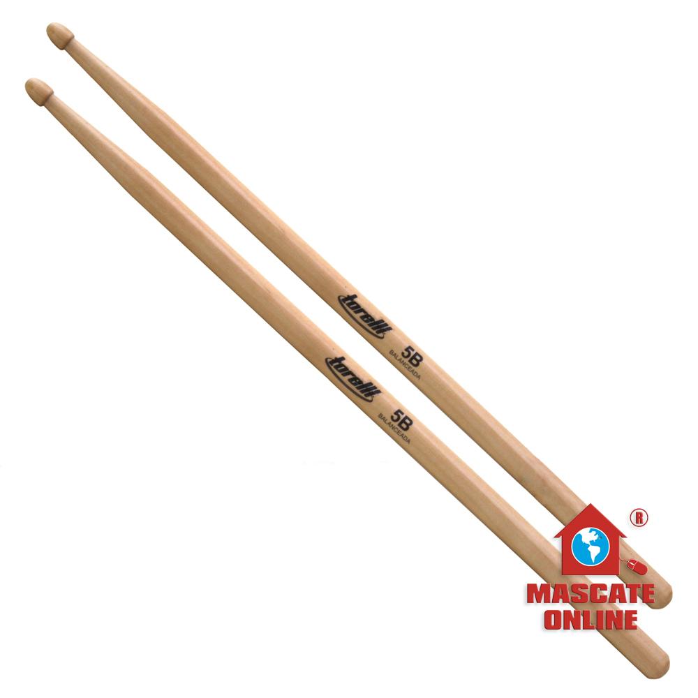 Baquetas 5B ponta de madeira (par) Torelli TQ 202