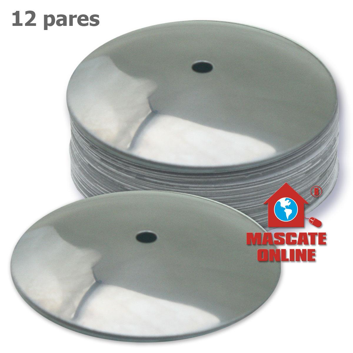 Platinela profissional pandeiro aço inox 12 pares Izzo