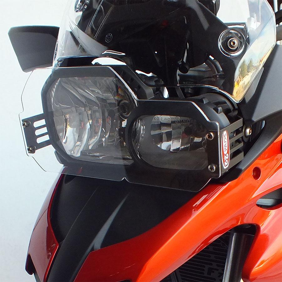 Protetor farol ACRÍLICO p/ BMW F700 Gs PRETO Scam