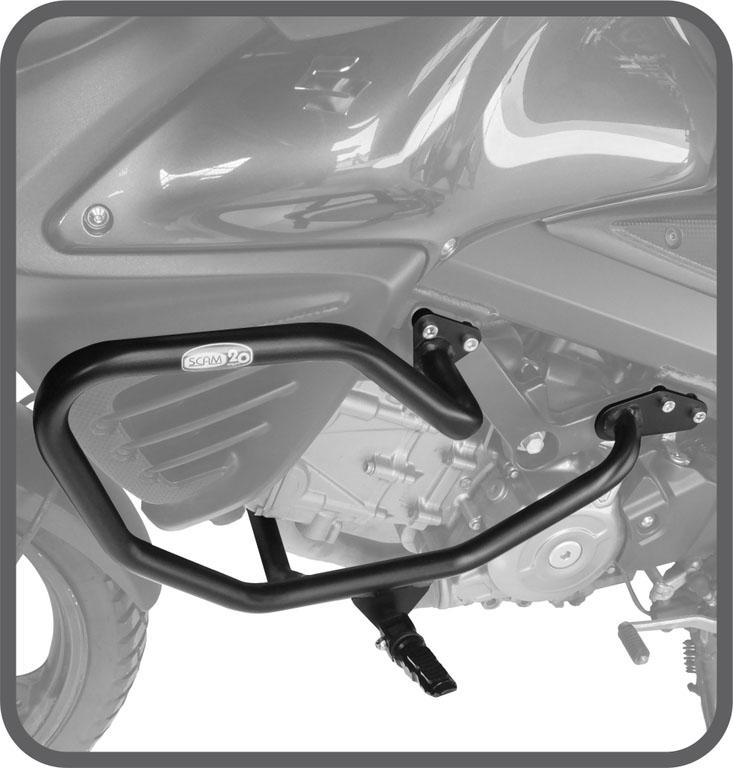 Protetor motor/carenagem DL Vstrom 650 até 2018 c/pedaleira