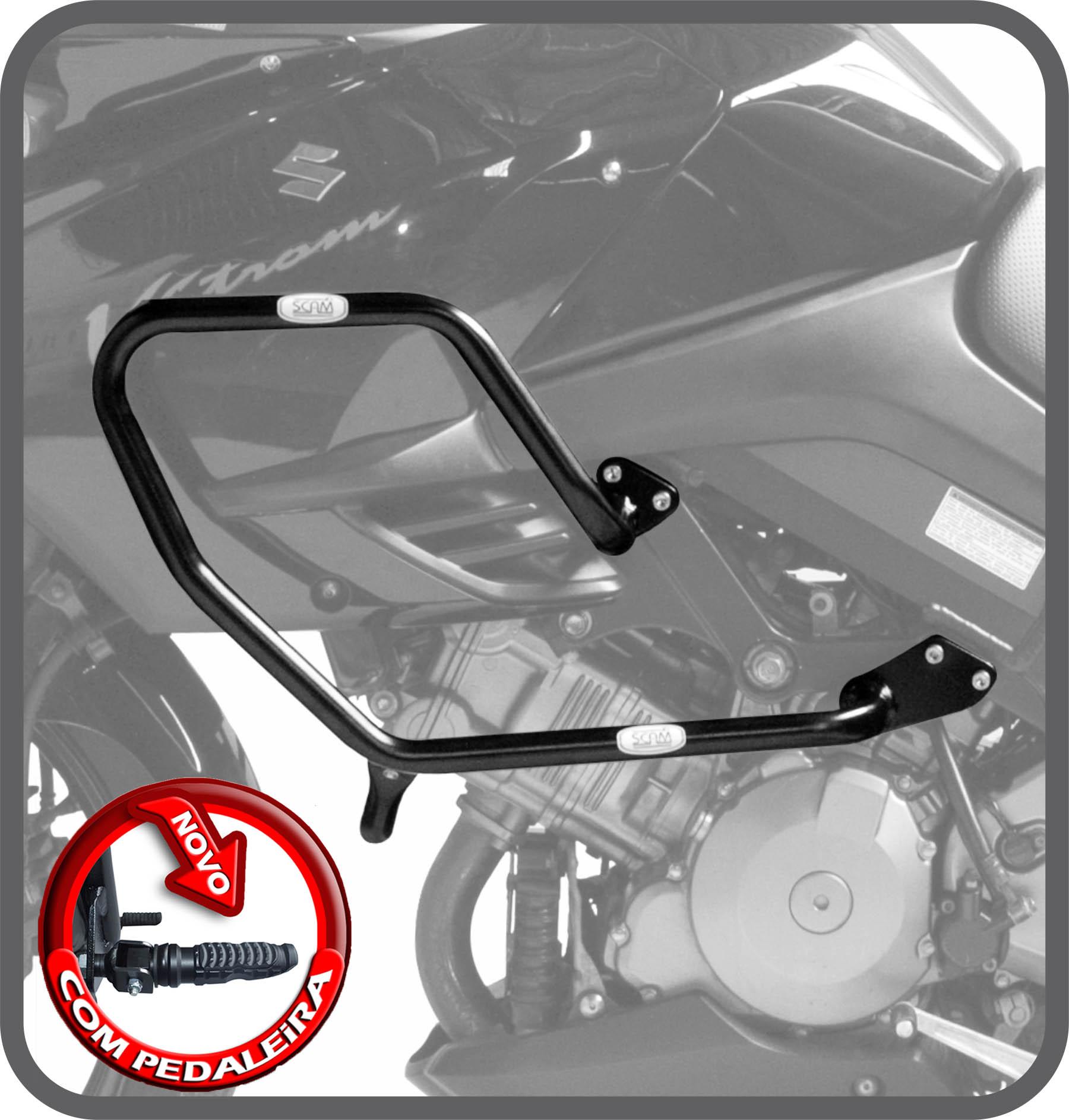 Protetor motor carenagem pedal VStrom 1000 até2012