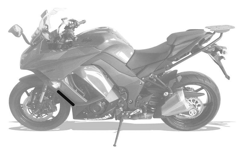 Protetor Radiador Kawasaki Ninja 1000 Tourer 2014+