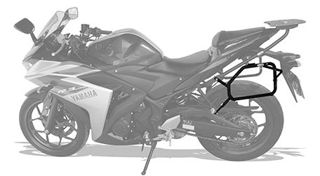 Suporte Baú Lateral Yamaha MT03 ou R3 - Scam