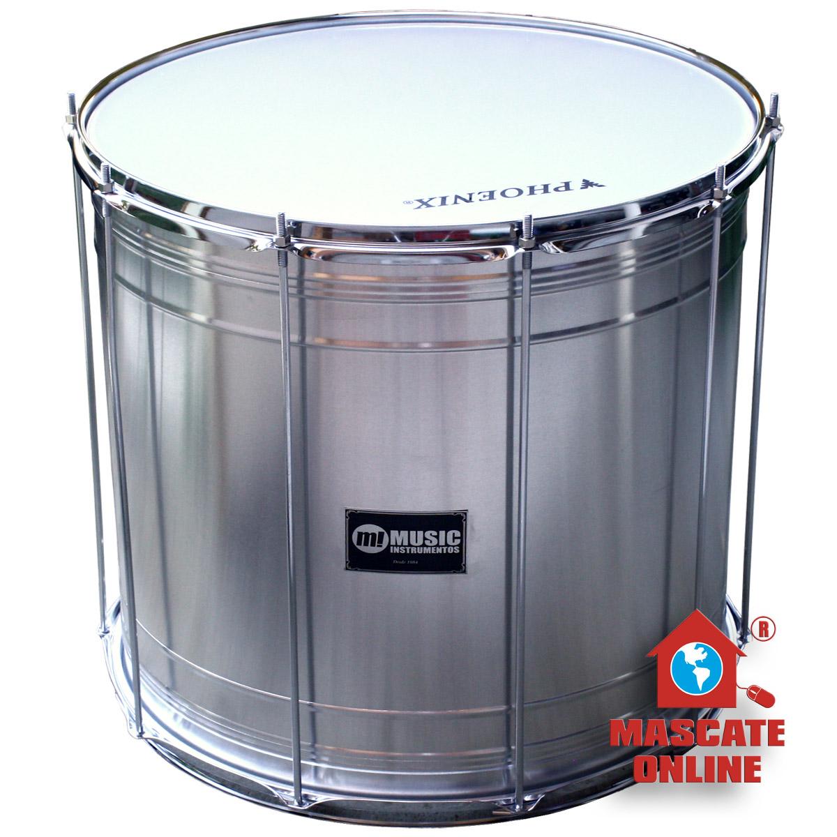 "Surdo Alumínio 20""x50cm Music 412LS"
