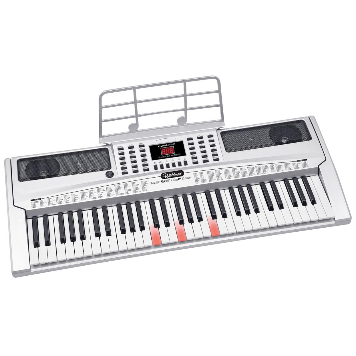 Teclado KeyPro 61 teclas iluminadas Waldman KEP-61F