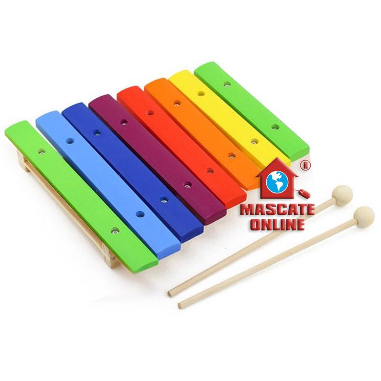 Xilofone Infantil colorido 8 notas Dolphin 9734
