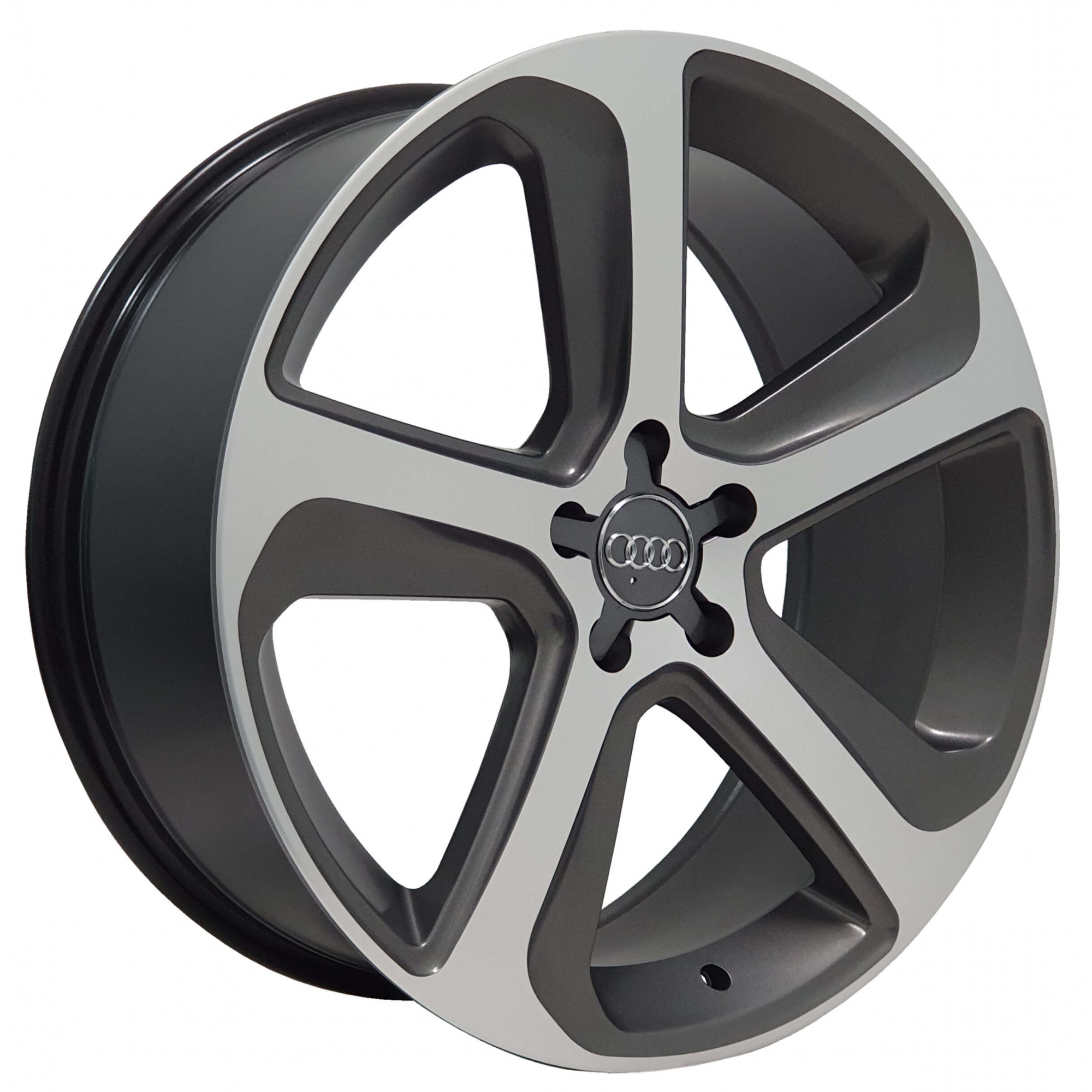 Jogo Rodas Audi Q5 Monacco MW080 Aro 17 5x100 Grafite Semi Brilho Diamantado