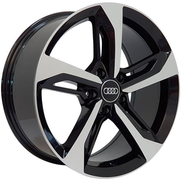 Jogo Rodas Audi Q7 Zeus ZWAQ7 Aro 18 5x112 (ET 45) Preto Diam. Brilhante