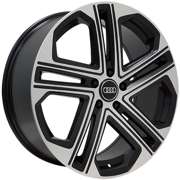 Jogo Rodas Audi S7 Zeus ZWAS7 Aro 20 5x112 (ET 47) Preto Diam. Semi-Brilho