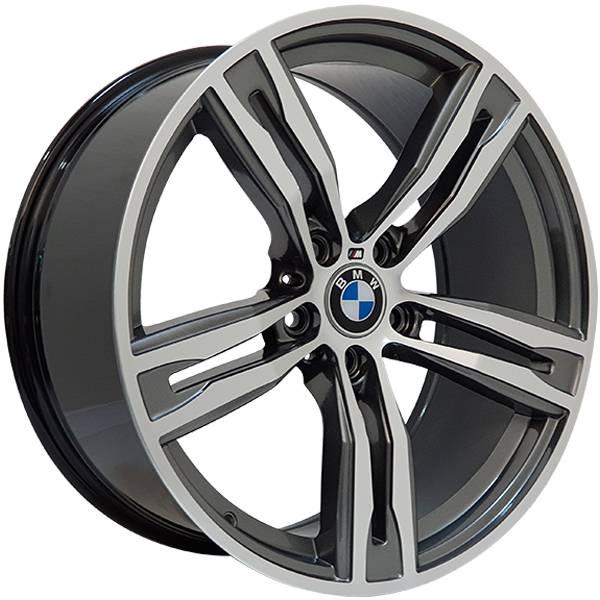Jogo Rodas BMW M6 Zeus ZWBM6 Aro 19 5x112 (ET 40) Grafite Bril. Diamantado