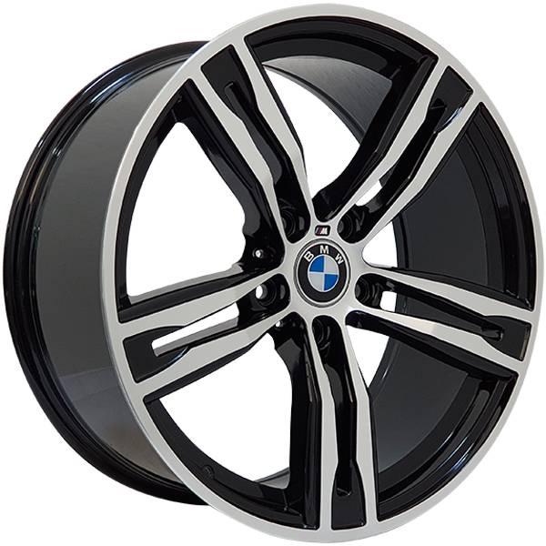 Jogo Rodas BMW M6 Zeus ZWBM6 Aro 19 5x120 (ET 40) Preto Bril. Diamantado