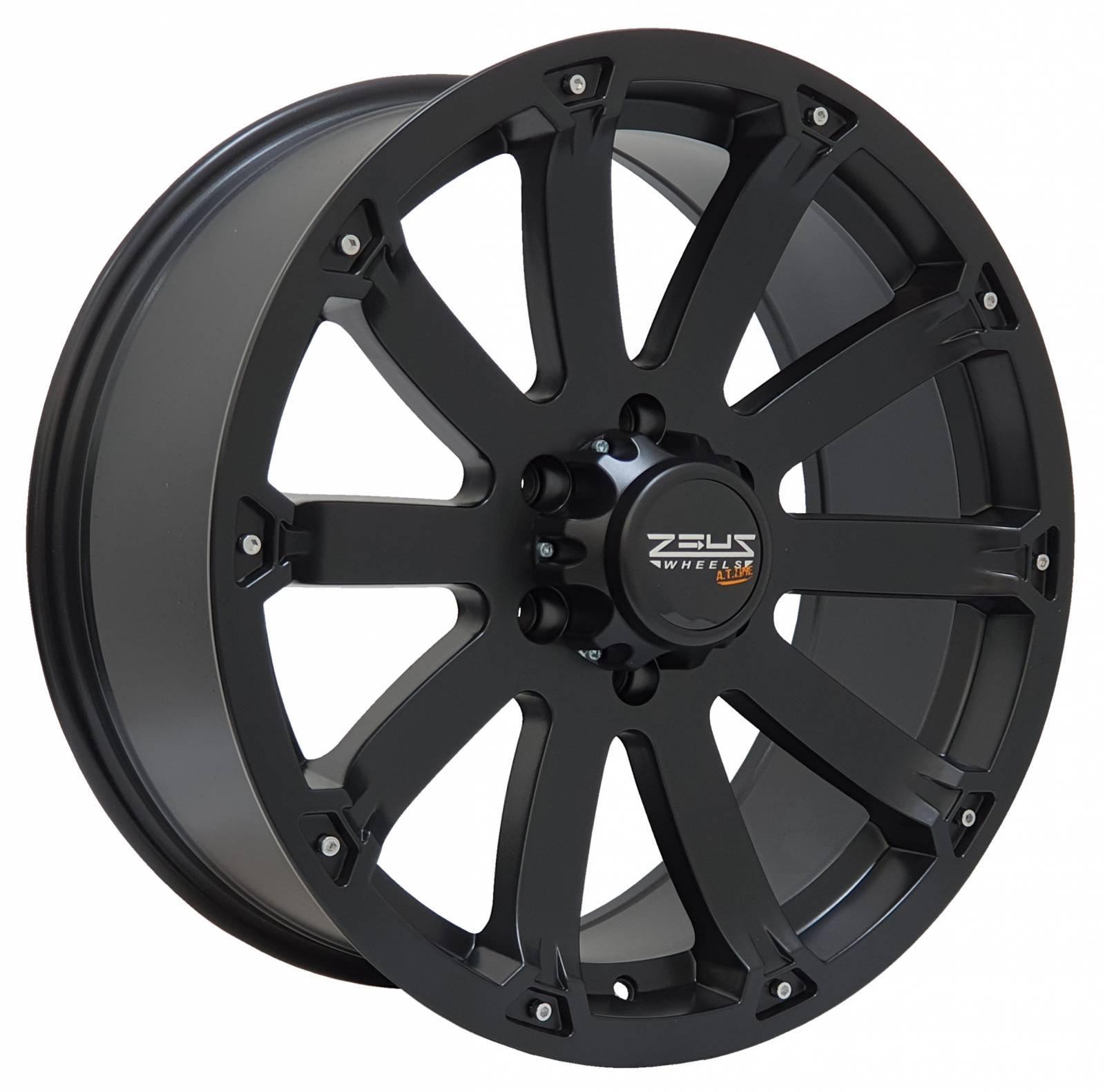 Jogo Rodas GM S10/Blazer Black Rhino Sidewinder 20x8,5 6x139 Preto Semi-Brilho