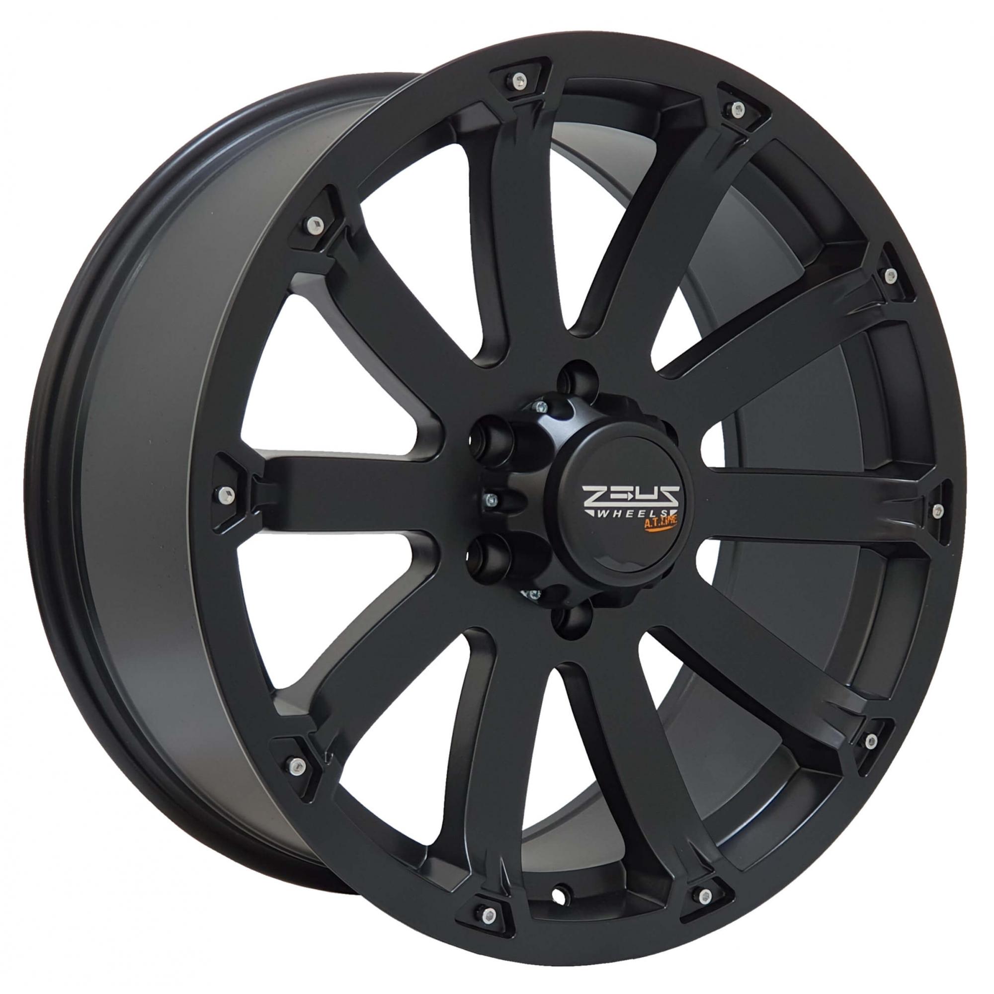 Jogo Rodas Hilux/SW4 Black Rhino Sidewinder 20x8,5 6x139 Preto Semi-Brilho
