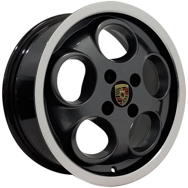 Jogo Rodas Porsche 928 Aro 15 4x100 Grafite Diamantado