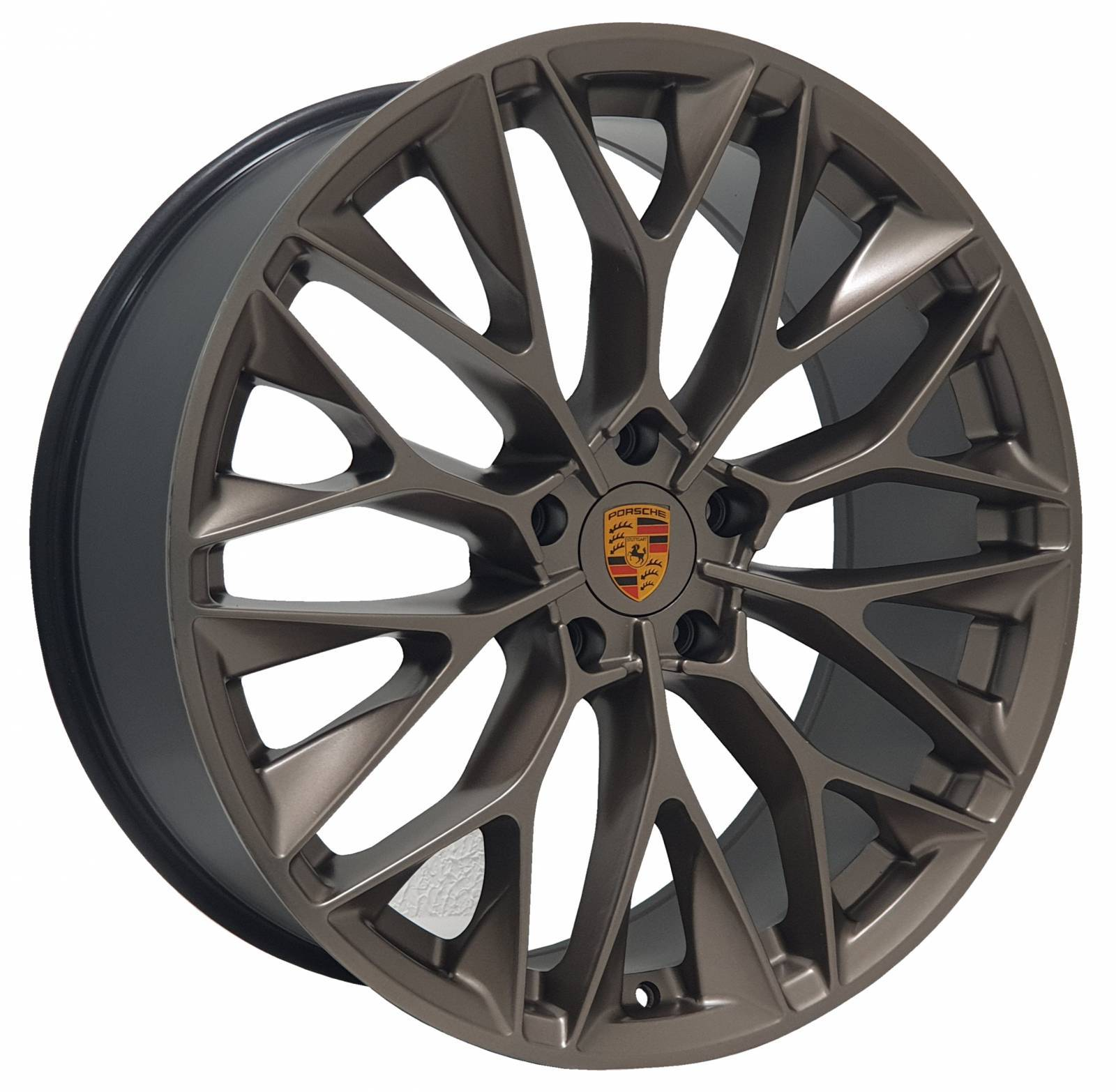Jogo Rodas Porsche P-200 ZWPC1 22X90 5X113 ET:40 CB:72 Gold Semi-Brilho