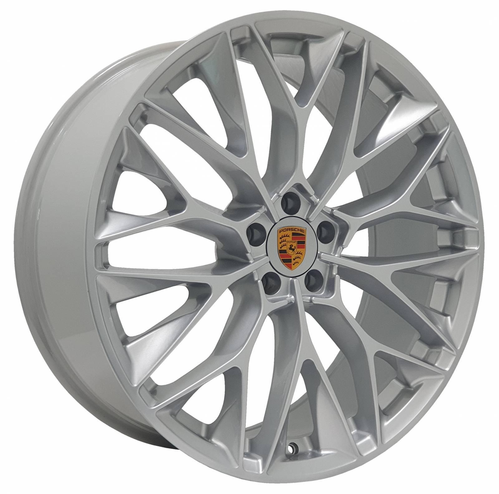 Jogo Rodas Porsche P-200 ZWPC1 22X90 5X113 ET:40 CB:72 Hyper Prata
