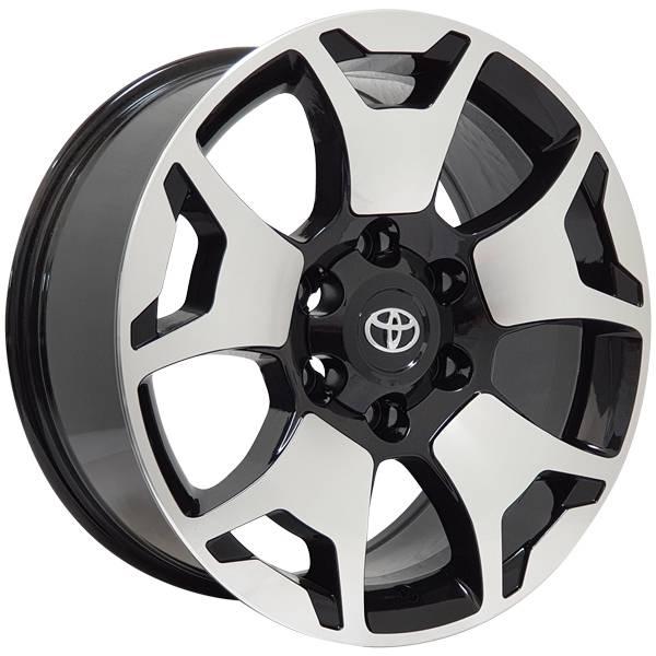Jogo Rodas Toyota Hilux Monacco Rossini Aro 18 6x139,7 (ET 25) Preto Diam. Brilhante