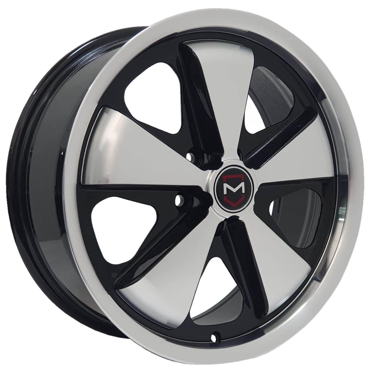 Jogo Rodas Monacco Wheels VLK-130 (FUCHS) Aro 17 5x114 Preto Diamantado Brilhante
