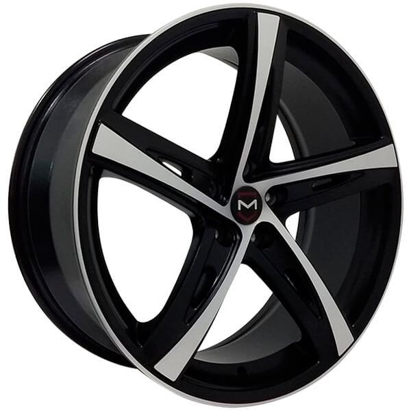 Jogo Rodas Volvo Monacco TIS 541 MW110 Aro 20 5x108 Preto Diam. Semi-Brilho