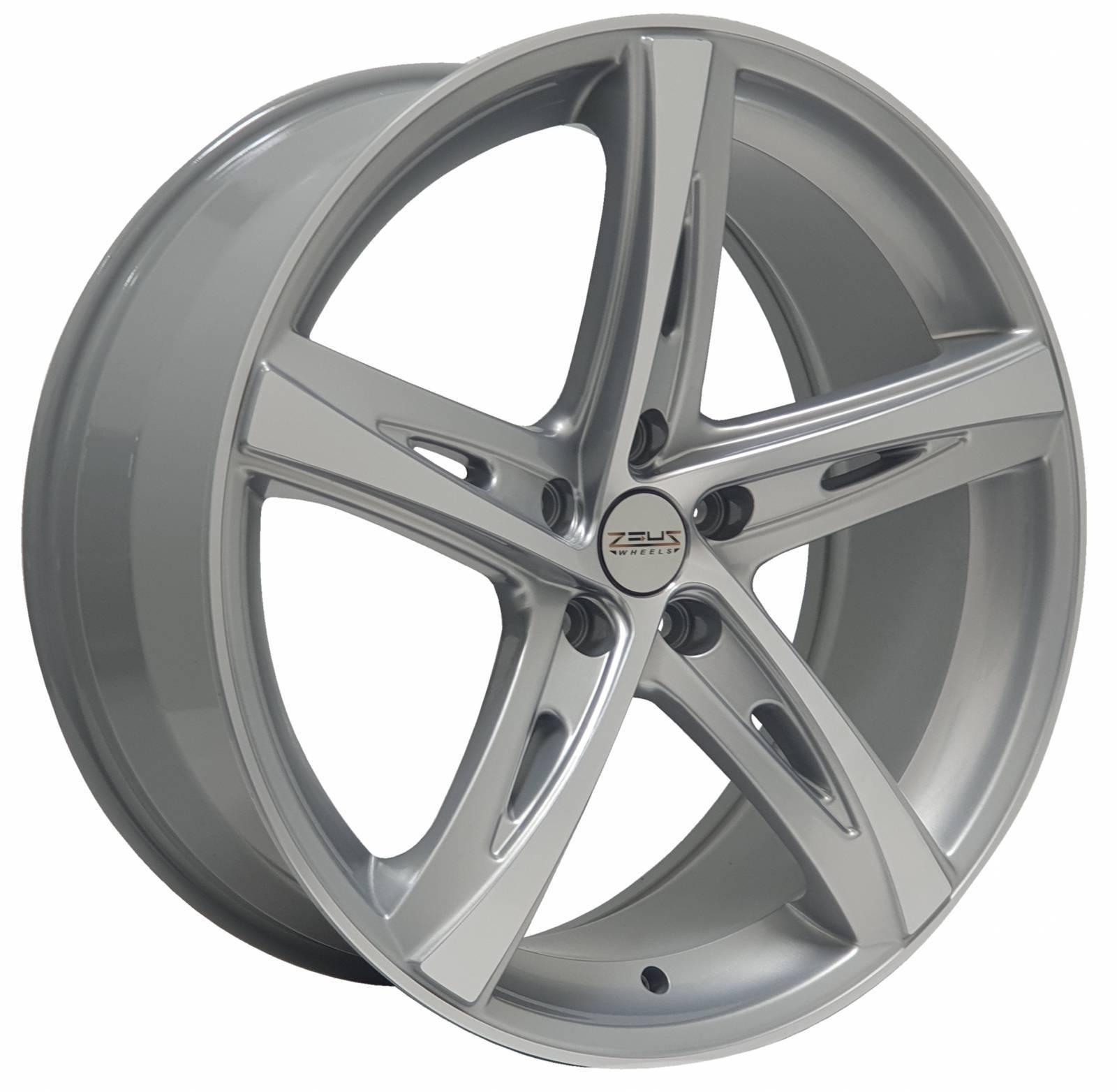 Jogo Rodas Volvo Monacco TIS 541 MW110 Aro 20 5x113 Prata Diamantado