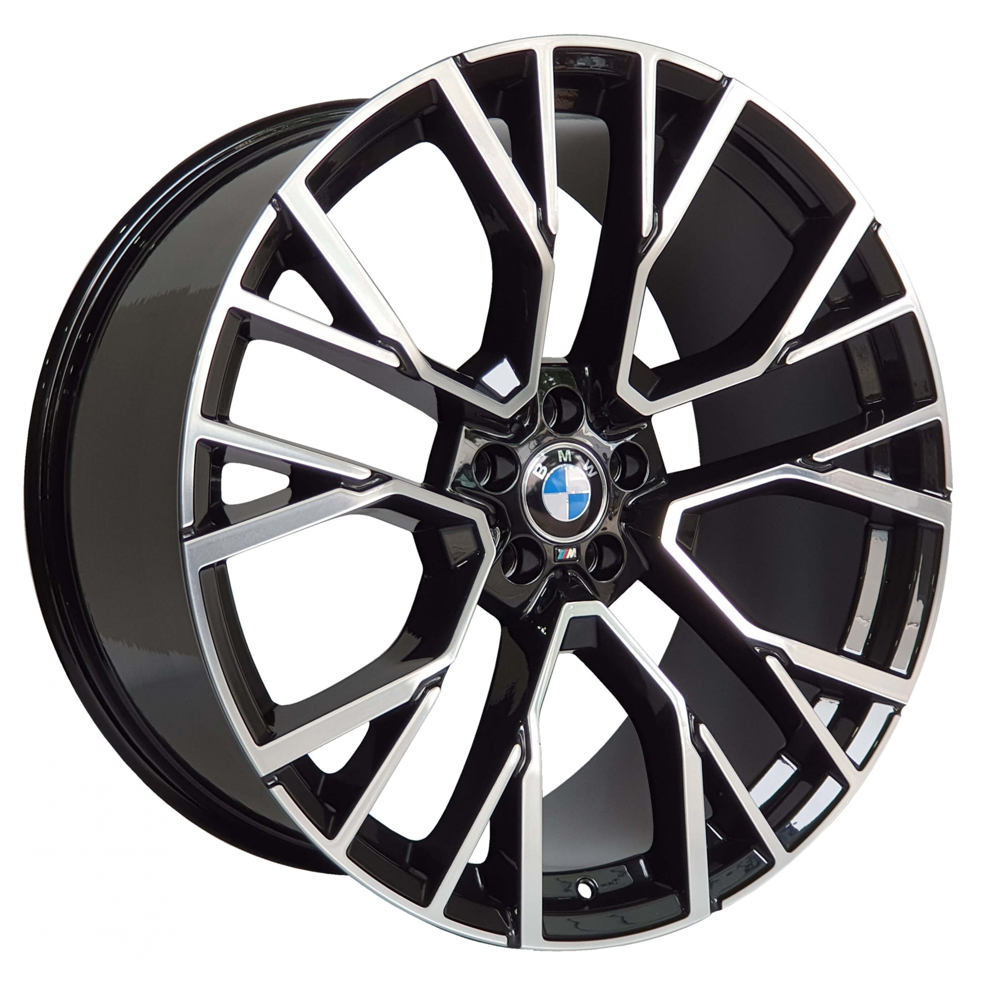 Jogo Rodas Zeus BMW X5M 5601A Aro 22x9,5 5x112 Black Diamond