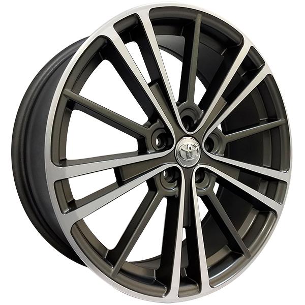 Roda Corolla Aro 18 ET:40 5x100 Grafite Diamantado Semi Brilho