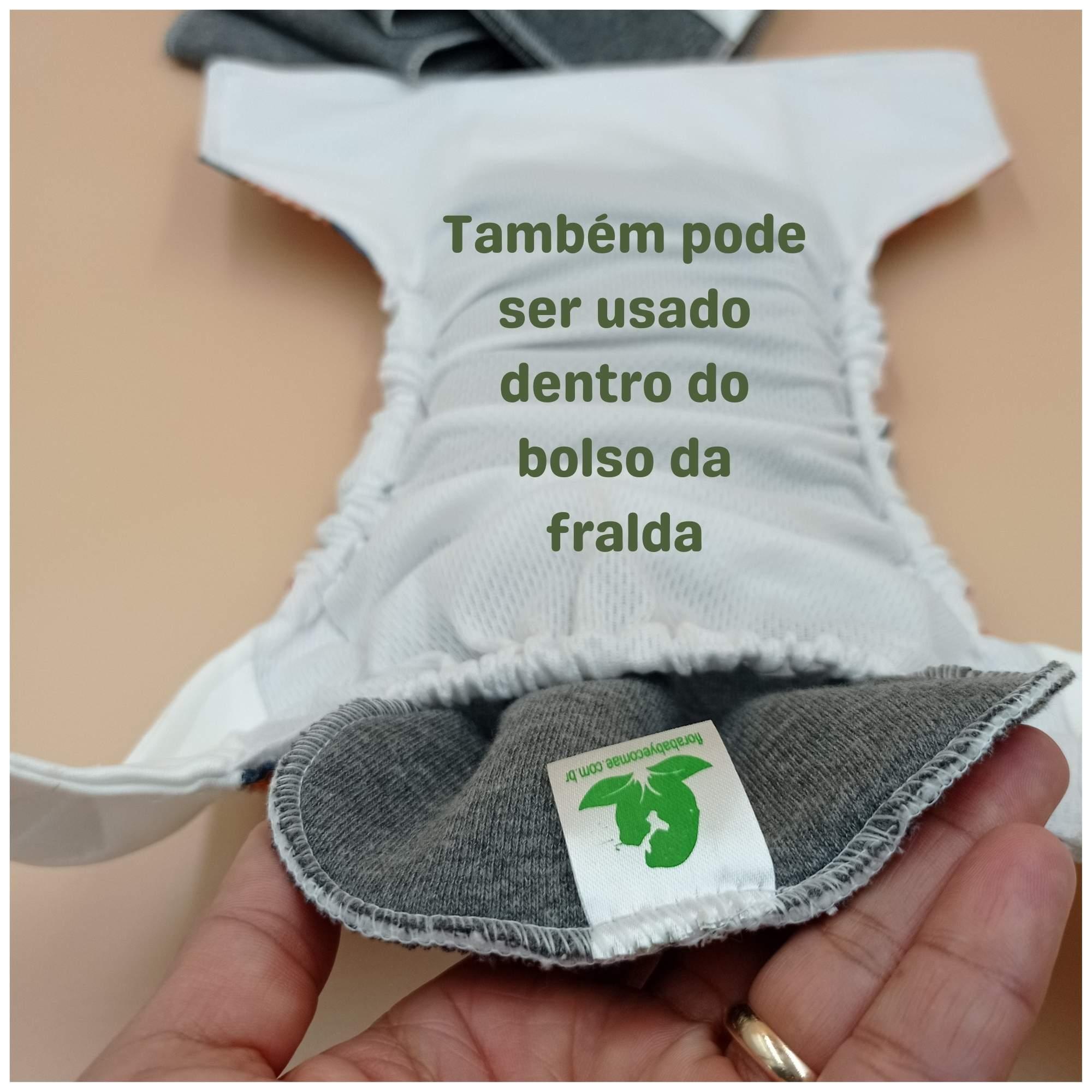 Absorvente Reforço Moletom Mescla 2 camadas para Fralda Ecológica