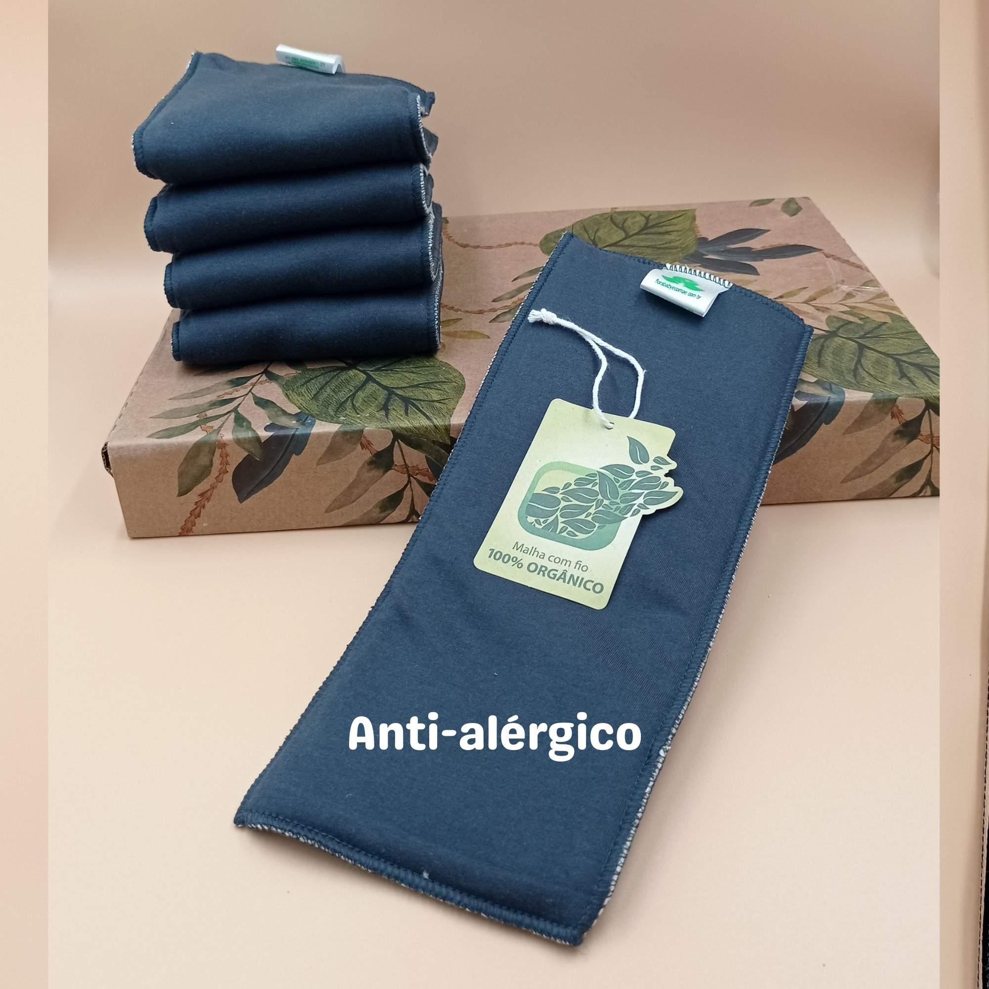 Absorvente para Fralda Ecológica Algodão Orgânico 6 camadas