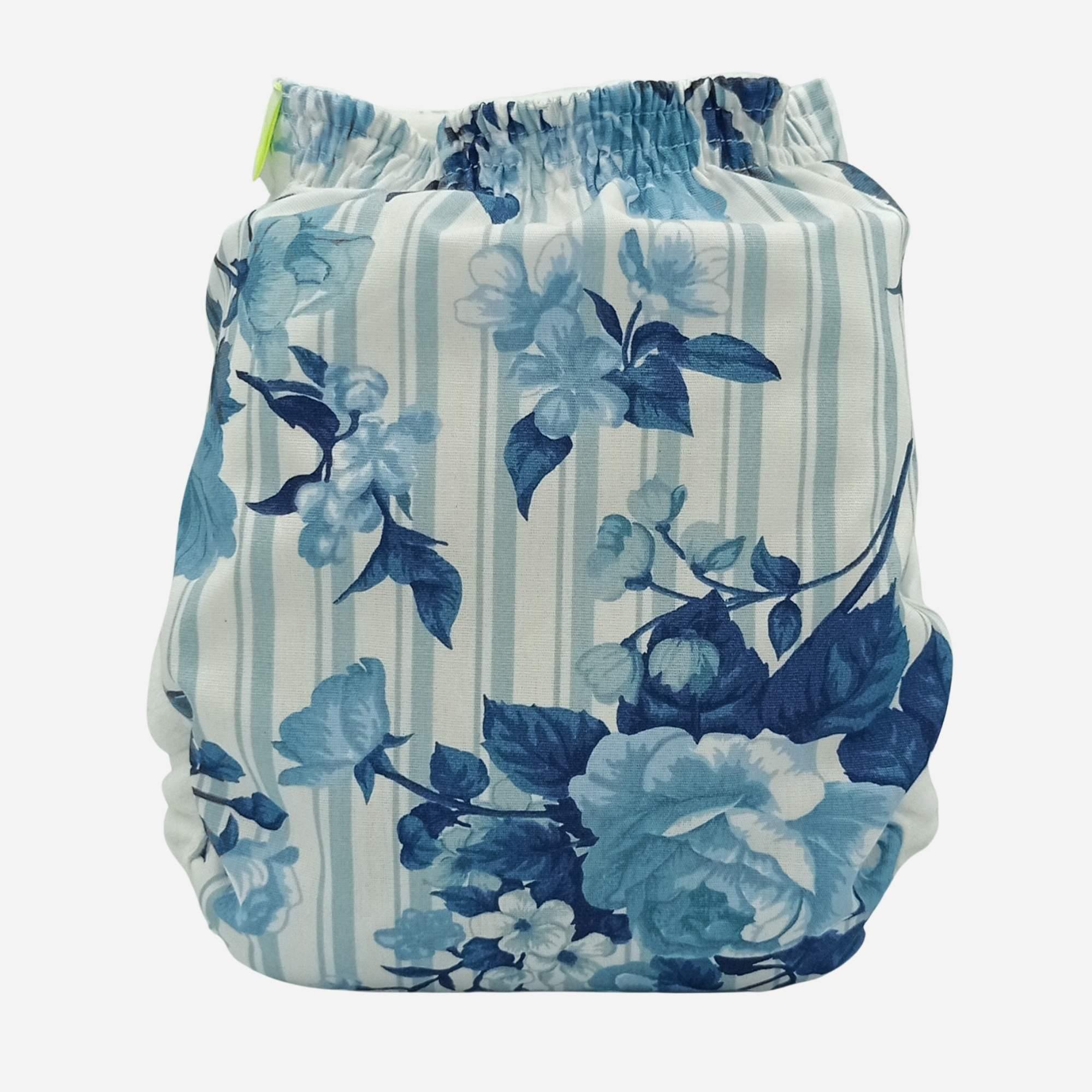 Fralda Ecológica Capa Blue Flower